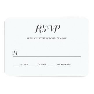 Carolyna Wedding RSVP 9 Cm X 13 Cm Invitation Card
