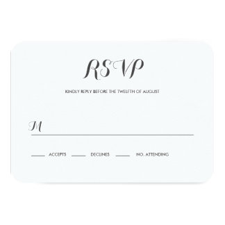 Carolyna Wedding RSVP Card