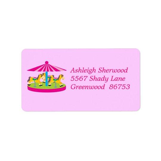 Carousel Address Label