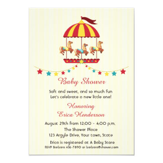 Carousel Baby Shower Card