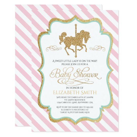 Carousel Baby Shower Invitation