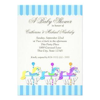 Carousel Baby Shower Custom Announcement