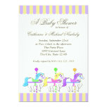 Carousel Baby Shower Purple Gold Invite