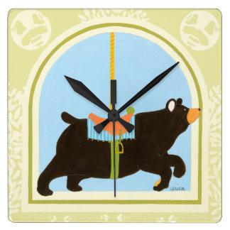 Carousel Bear by June Erica Vess Clock