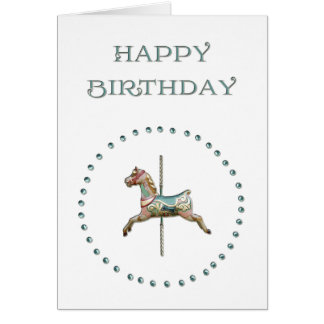Carousel Birthday Greetings Card by Black Cherry