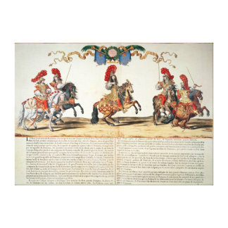 Carousel by Louis XIV  Front of Tuileries Canvas Print