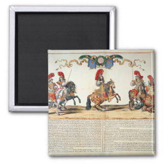 Carousel by Louis XIV  Front of Tuileries Square Magnet