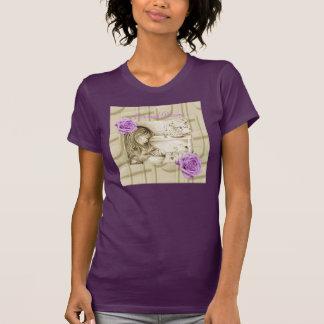 Carousel Dreams Vintage Rose Fine Jersey T-Shirt