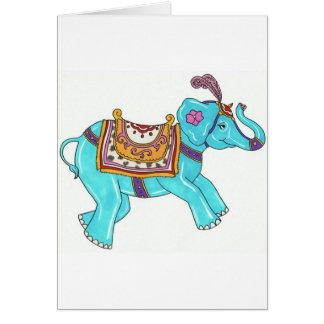 Carousel Elephant Note Card