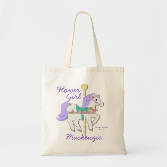 Carousel Flower Girl Tote Bag