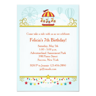 Carousel Fun Invitation