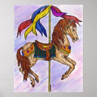 Carousel fun poster