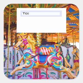 Carousel Gift wrap sticker