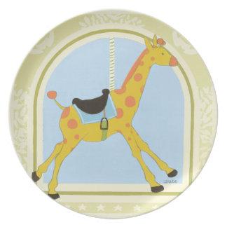 Carousel Giraffe by June Erica Vess Dinner Plate