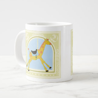 Carousel Giraffe by June Erica Vess Large Coffee Mug