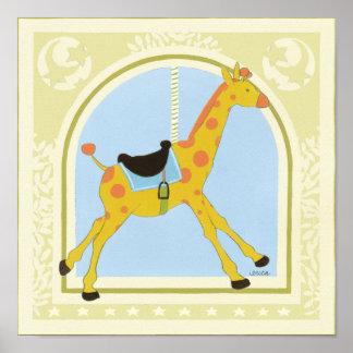 Carousel Giraffe by June Erica Vess Poster