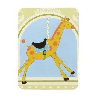 Carousel Giraffe by June Erica Vess Rectangular Photo Magnet