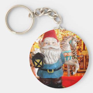 Carousel Gnome Basic Round Button Key Ring