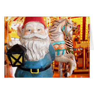 Carousel Gnome Greeting Cards