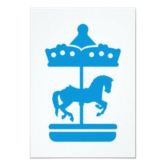 Carousel Horse 9 Cm X 13 Cm Invitation Card