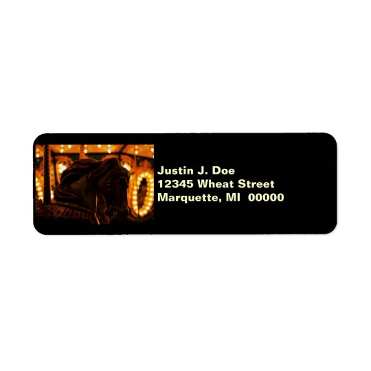 Carousel Horse at Midnight Retrun Address Labels