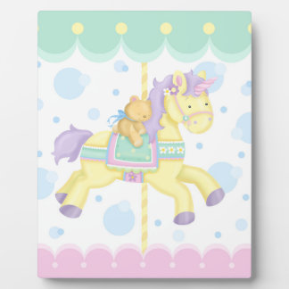 Carousel Horse Baby Art Easel Plaque