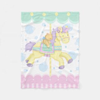 Carousel Horse Baby Blanket