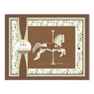 Carousel Horse Baby Shower Invitation