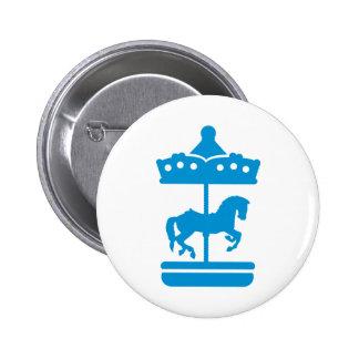 Carousel Horse 6 Cm Round Badge