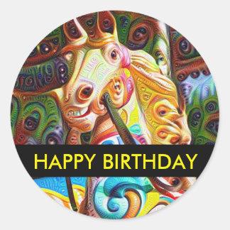 Carousel Horse Birthday Sticker