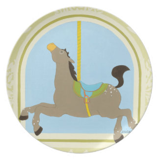 Carousel Horse by June Erica Vess Party Plates