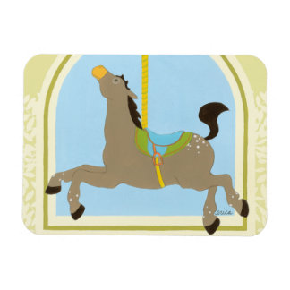 Carousel Horse by June Erica Vess Rectangular Photo Magnet
