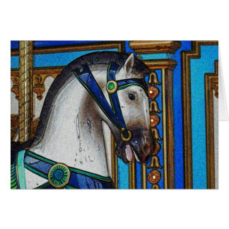 Carousel Horse Charger Card