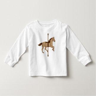 Carousel Horse - Chocolate Brown and Tan Toddler T-Shirt
