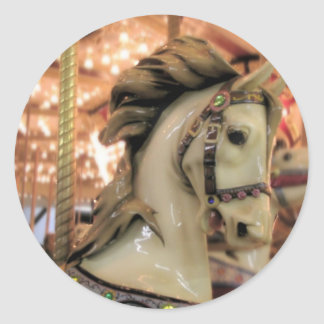 carousel horse classic round sticker