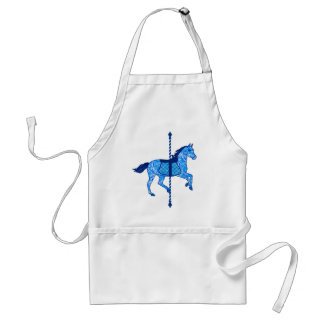 Carousel Horse - Cobalt and Sky Blue Adult Apron