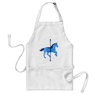 Carousel Horse - Cobalt and Sky Blue Standard Apron