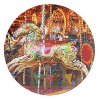 Carousel horse design dinner plate