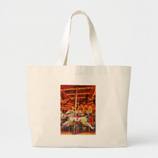 Carousel horse design large tote bag