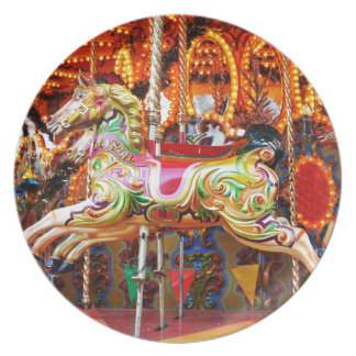 Carousel horse design plate