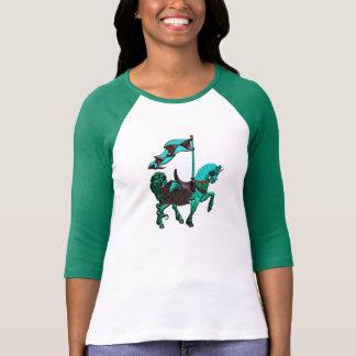 carousel horse_green T-Shirt