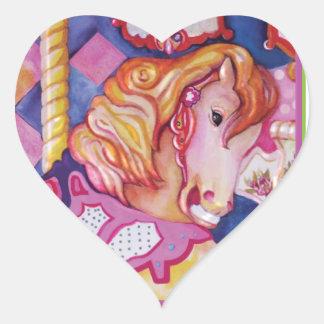Carousel Horse Heart Sticker