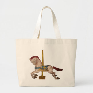 Carousel Horse Large Tote Bag