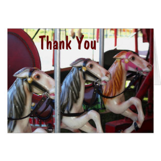 Carousel Horse Memories Thank You Card
