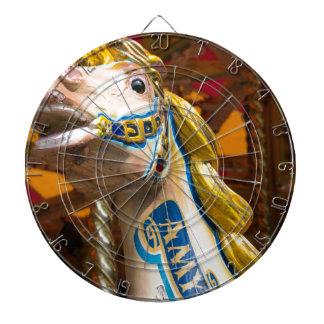 Carousel horse on merry goround dartboard