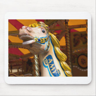 Carousel horse on merry goround mouse mat