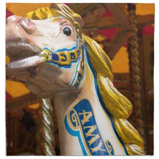 Carousel horse on merry goround napkin