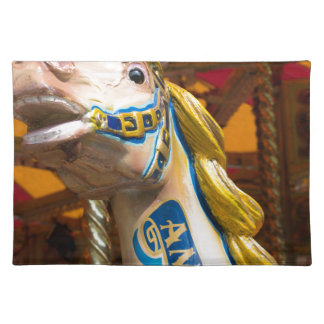 Carousel horse on merry goround placemat