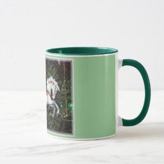Carousel horse ornament mug