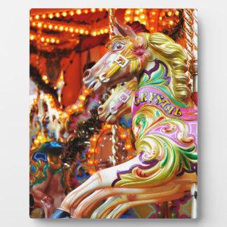 Carousel horse plaque